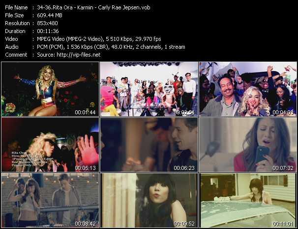 Rita Ora - Karmin - Carly Rae Jepsen video screenshot