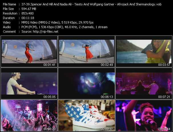 Spencer And Hill And Nadia Ali - Tiesto And Wolfgang Gartner Feat. Luciana - Afrojack And Shermanology video screenshot