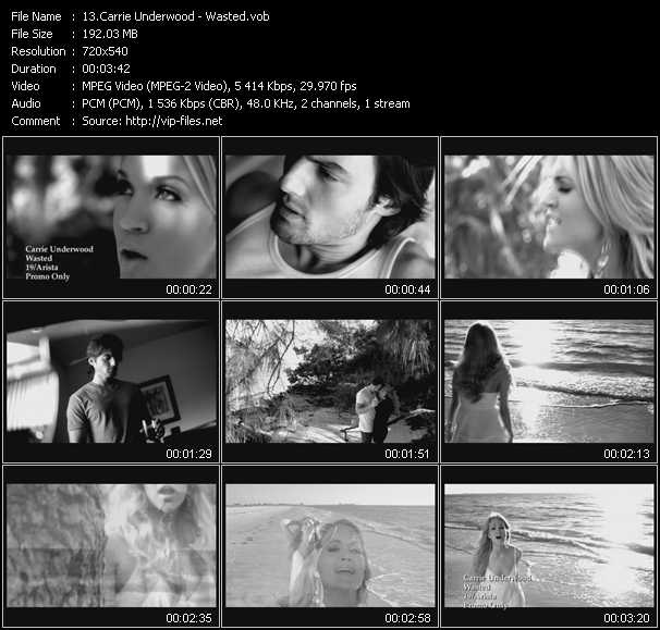 Carrie Underwood video screenshot