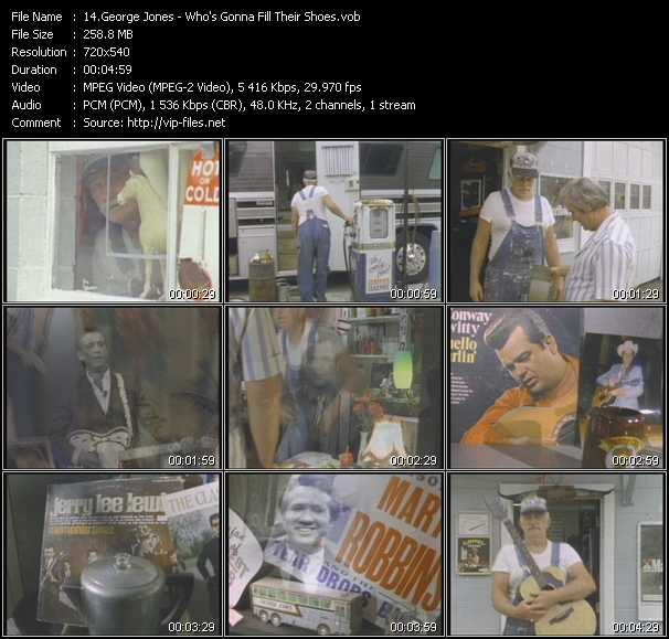George Jones video screenshot