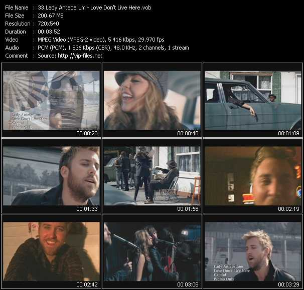 Lady Antebellum video screenshot