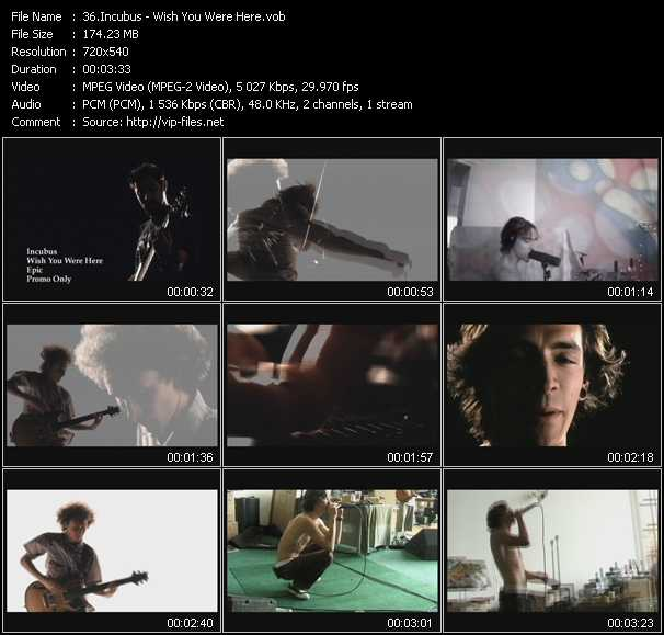 Incubus video screenshot