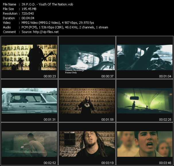 P.O.D. video screenshot