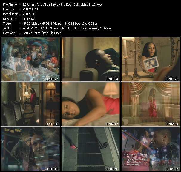 video My Boo (Split Video Mix) screen