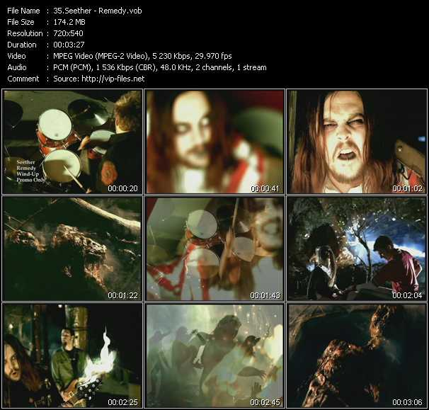 Seether video screenshot