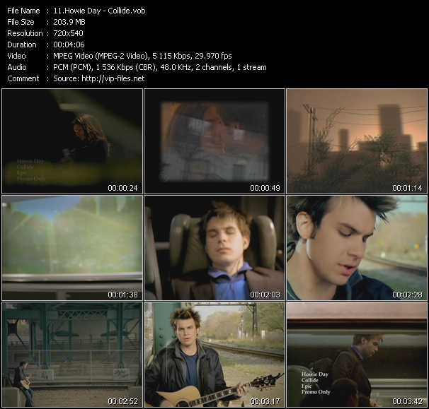 Howie Day video screenshot