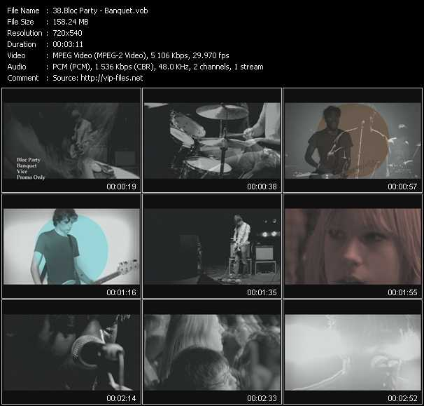 Bloc Party video screenshot