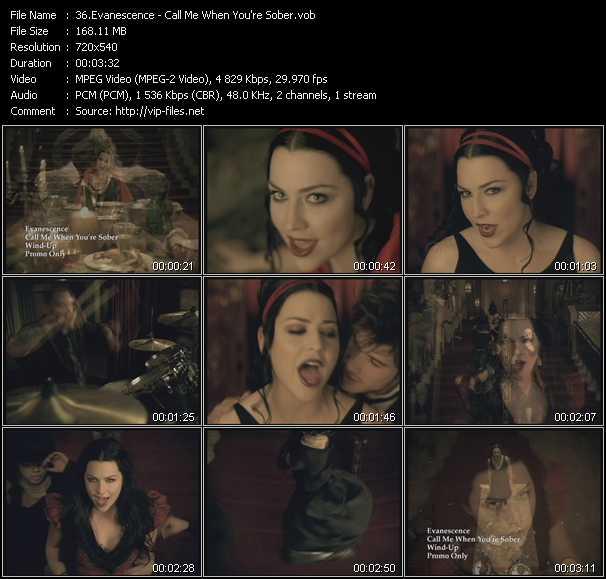 Evanescence video screenshot