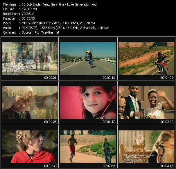 Bob Sinclar Feat. Gary Pine video screenshot