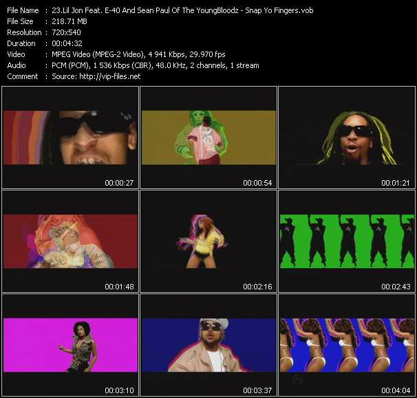 Lil' Jon Feat. E-40 And Sean Paul Of The YoungBloodz video screenshot
