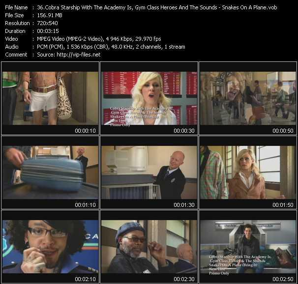 Cobra Starship With The Academy Is, Gym Class Heroes And The Sounds video screenshot