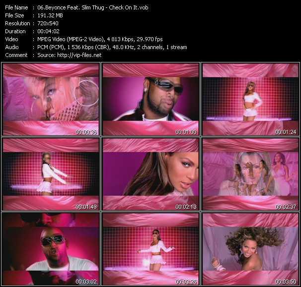 Beyonce Feat. Slim Thug video screenshot