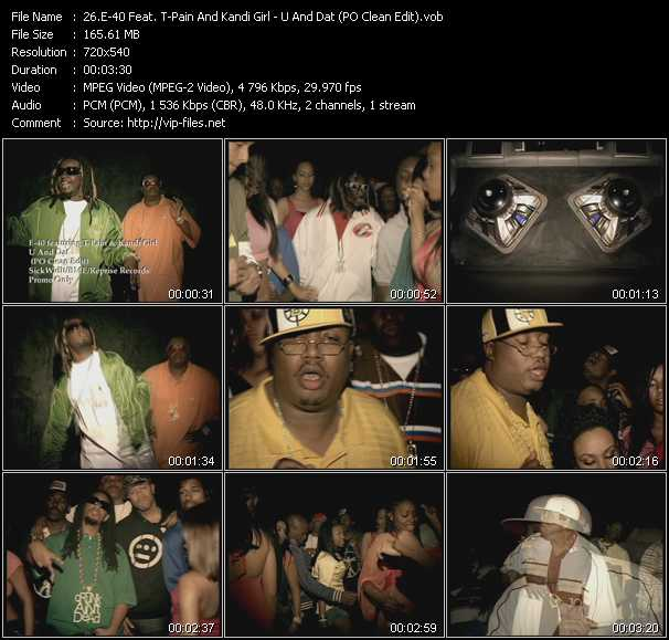 E-40 Feat. T-Pain And Kandi Girl video screenshot