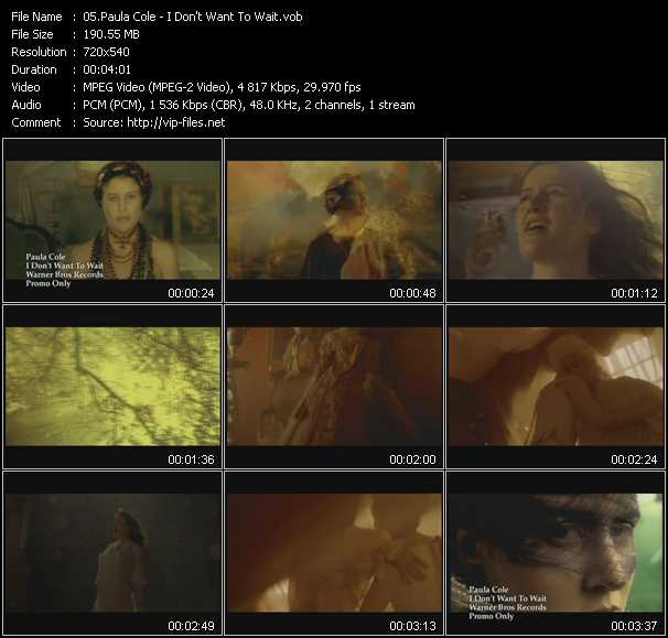 Paula Cole video screenshot