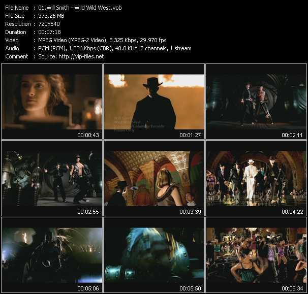 video Wild Wild West screen