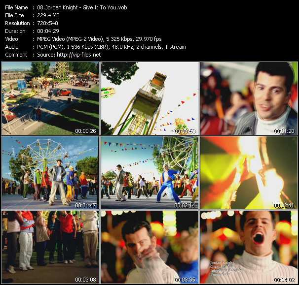Jordan Knight video screenshot