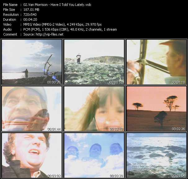 Van Morrison video screenshot