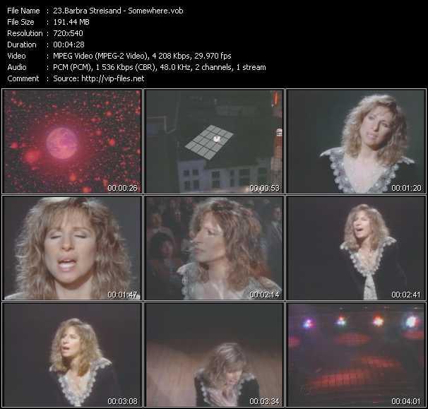 Barbra Streisand video screenshot