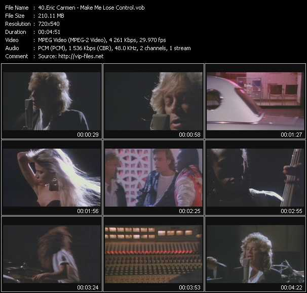 Eric Carmen video screenshot