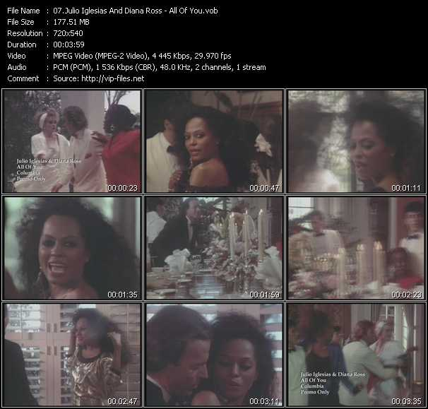 Julio Iglesias And Diana Ross video screenshot