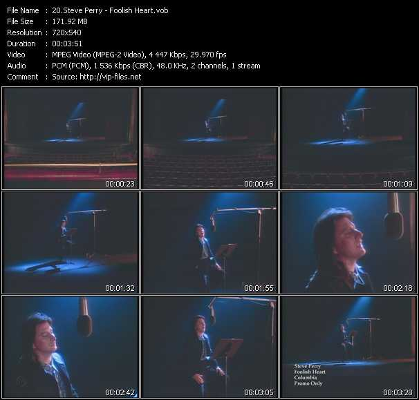 Steve Perry video screenshot