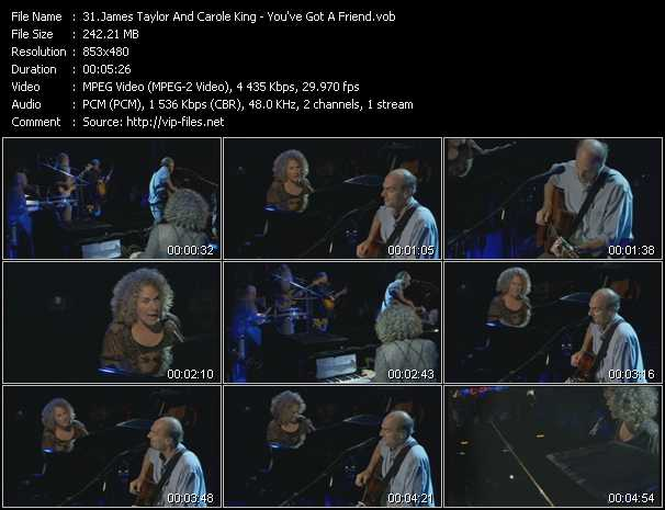 James Taylor And Carole King video screenshot
