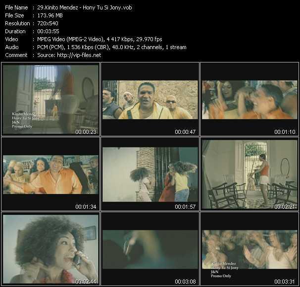 Kinito Mendez video screenshot