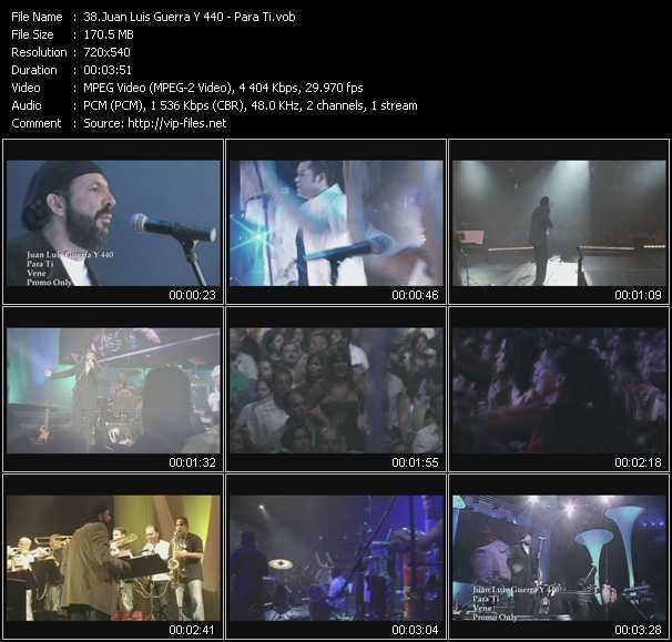 Juan Luis Guerra 440 video screenshot