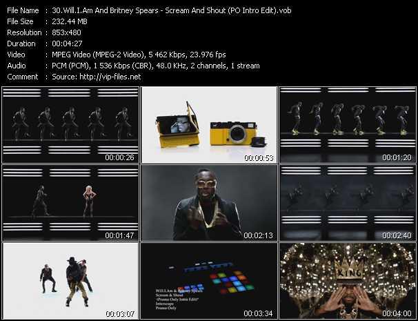 video Scream And Shout (PO Intro Edit) screen