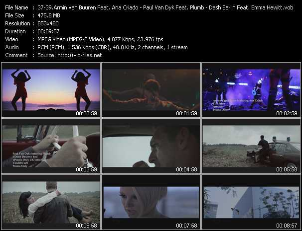 Armin Van Buuren Feat. Ana Criado - Paul Van Dyk Feat. Plumb - Dash Berlin Feat. Emma Hewitt video screenshot
