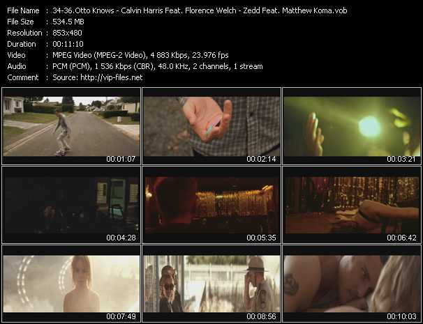 Otto Knows - Calvin Harris Feat. Florence Welch - Zedd Feat. Matthew Koma video screenshot
