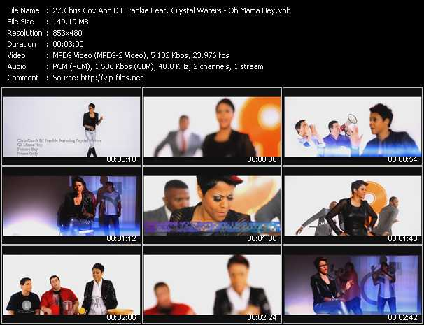 Chris Cox And DJ Frankie Feat. Crystal Waters video screenshot