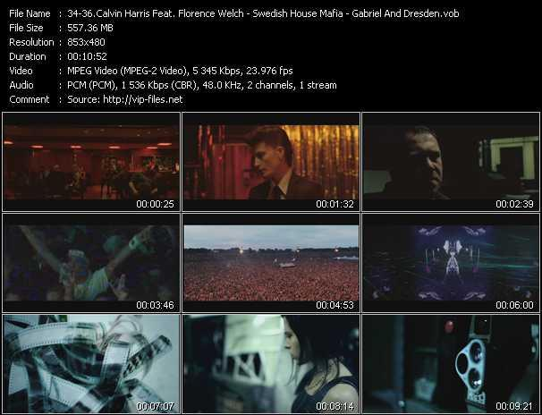 Calvin Harris Feat. Florence Welch - Swedish House Mafia Feat. John Martin - Gabriel And Dresden Feat. Betsie Larkin video screenshot