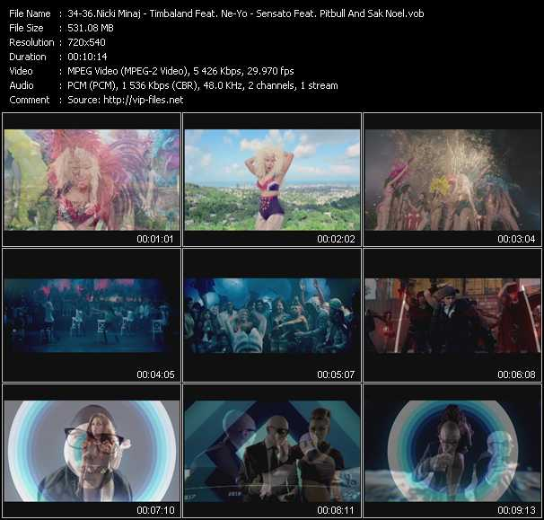 Nicki Minaj - Timbaland Feat. Ne-Yo - Sensato Feat. Pitbull And Sak Noel video screenshot