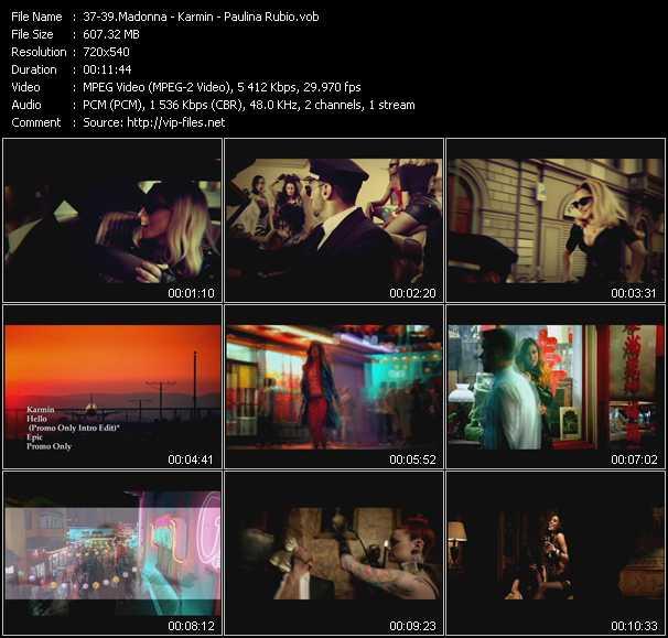 Madonna - Karmin - Paulina Rubio video screenshot