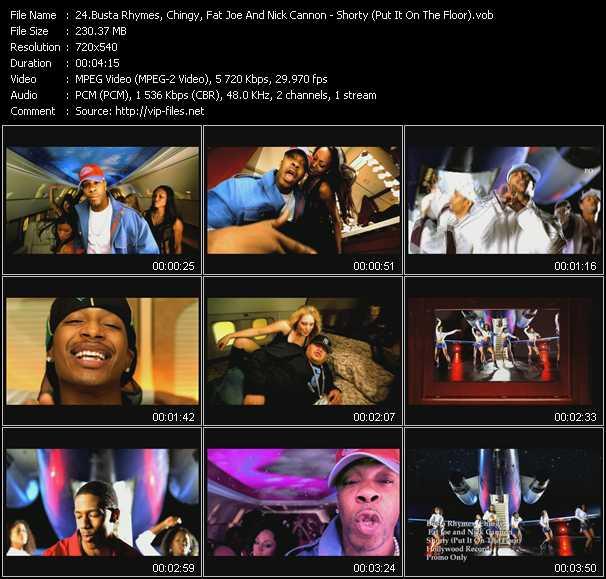 Busta Rhymes, Chingy, Fat Joe And Nick Cannon video screenshot