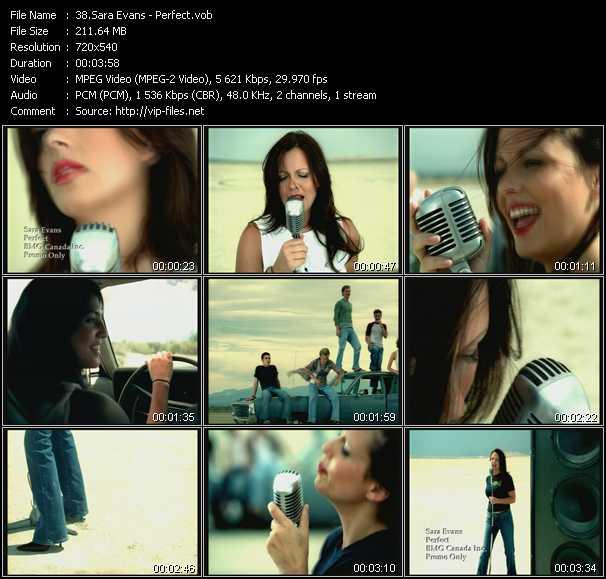 Sara Evans video screenshot