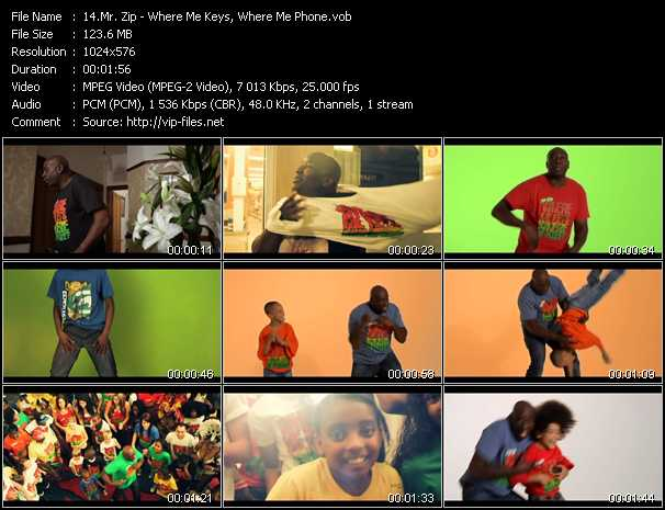 Mr. Zip video screenshot