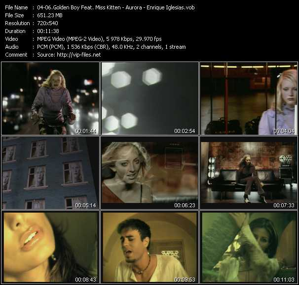 Golden Boy With Miss Kittin - Aurora - Enrique Iglesias video screenshot
