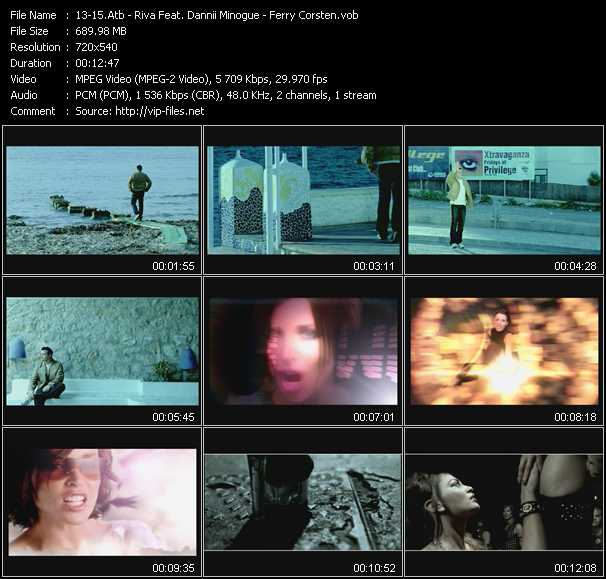 Atb - Riva Feat. Dannii Minogue - Ferry Corsten video screenshot