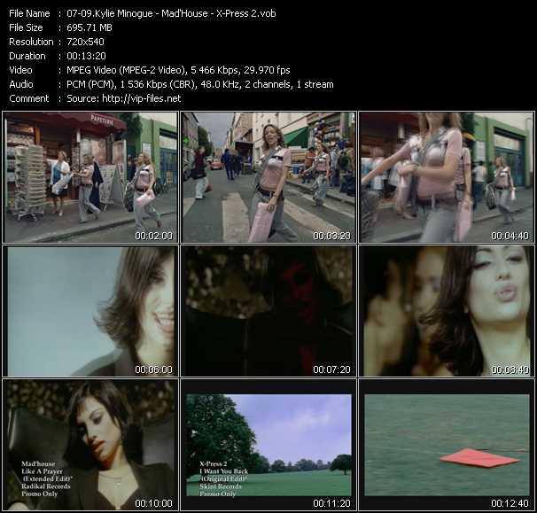 Kylie Minogue - Mad'House - X-Press 2 video screenshot