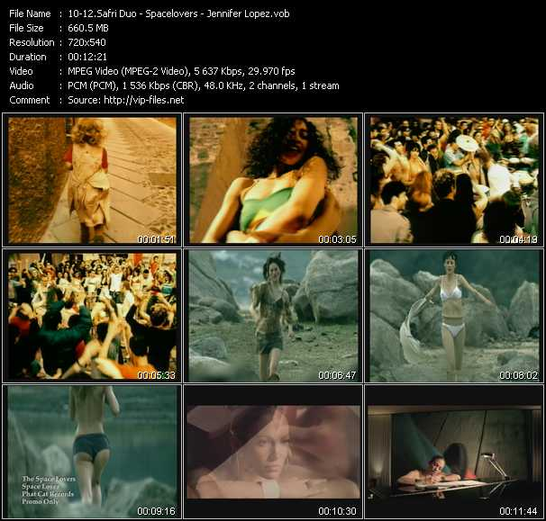 Safri Duo - Spacelovers - Jennifer Lopez video screenshot