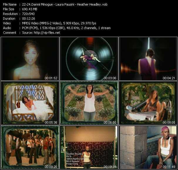 Dannii Minogue - Laura Pausini - Heather Headley video screenshot