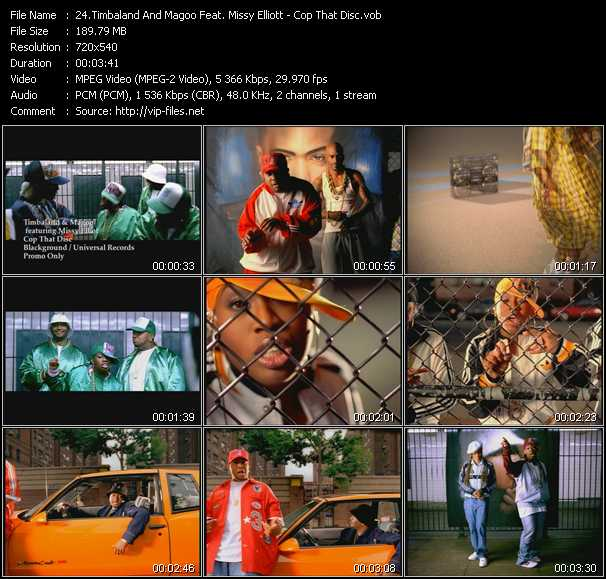 Timbaland And Magoo Feat. Missy Elliott video screenshot