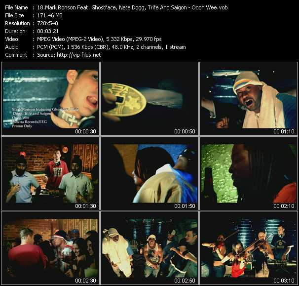 Mark Ronson Feat. Ghostface Killah, Nate Dogg, Trife And Saigon video screenshot