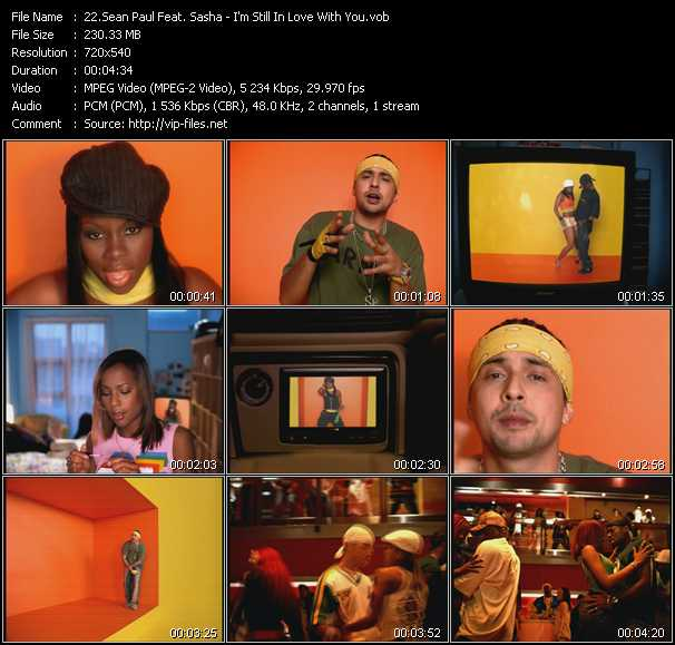 Sean Paul Feat. Sasha video screenshot