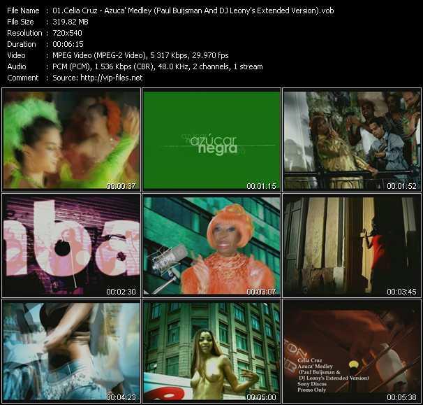 Celia Cruz video screenshot