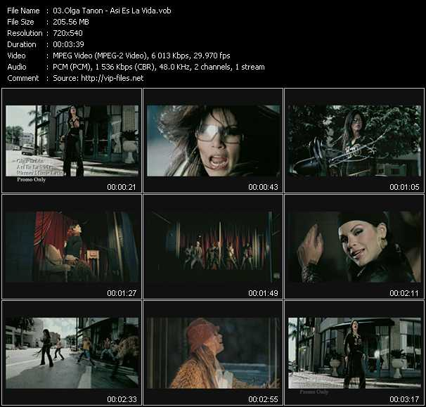 Olga Tanon video screenshot