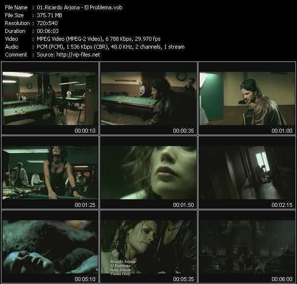 Ricardo Arjona video screenshot