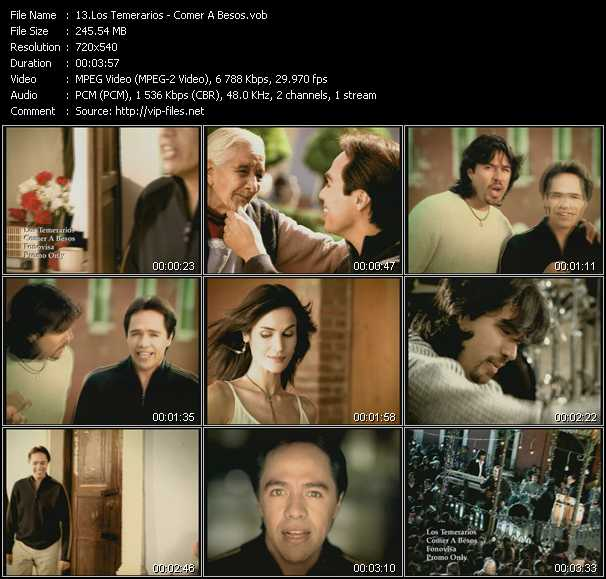 Los Temerarios video screenshot